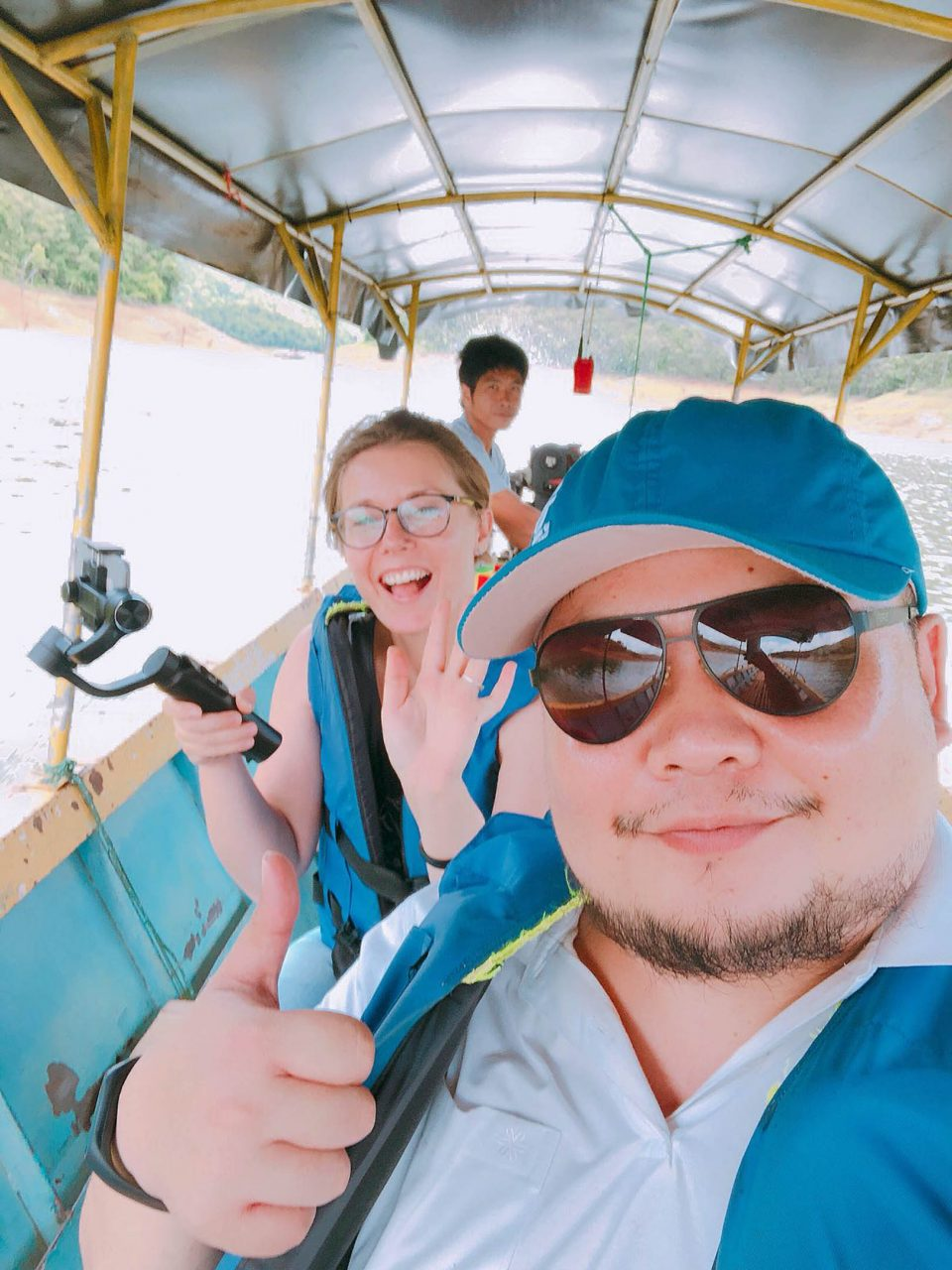 joanna and sakhon on a trip to mae ngat dam