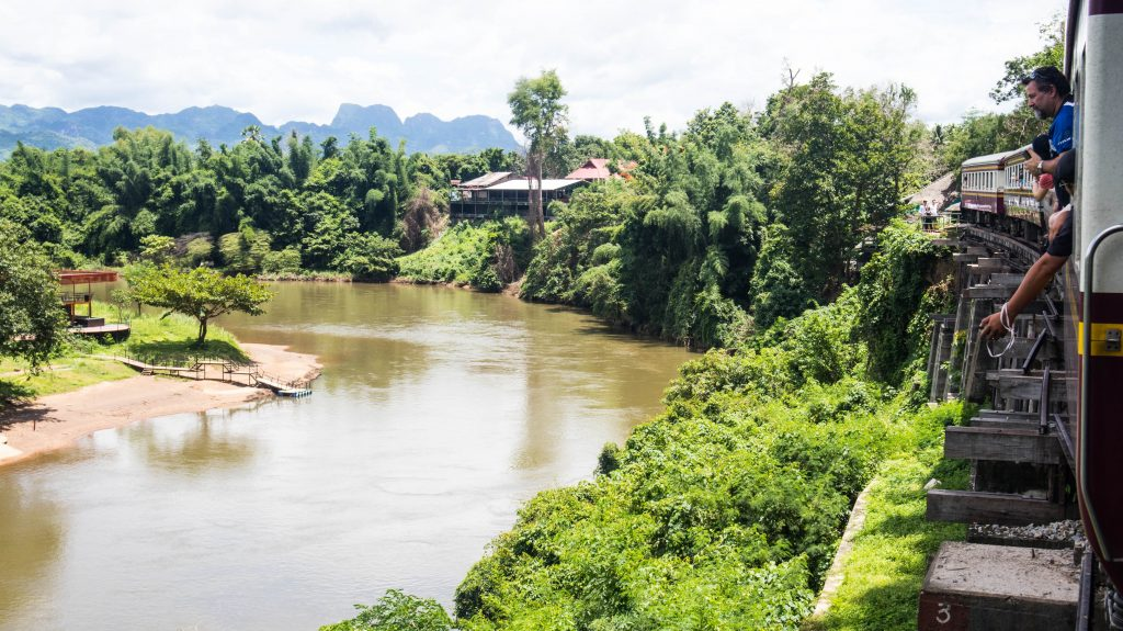 the views from the death railway in kanchanaburi