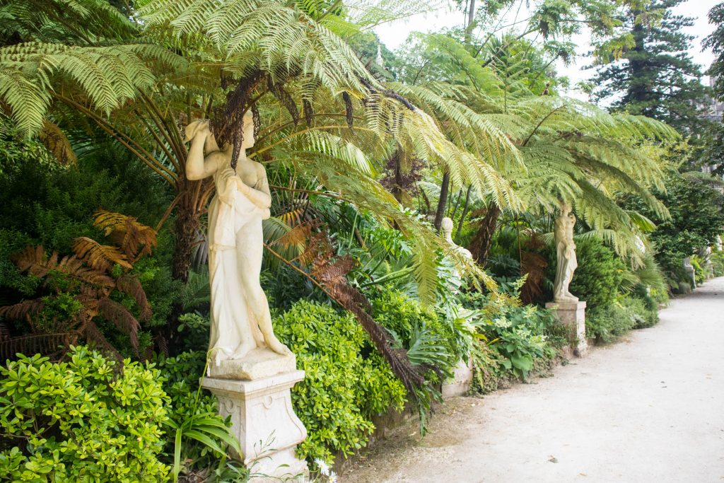 sculptures in the regaleira garden