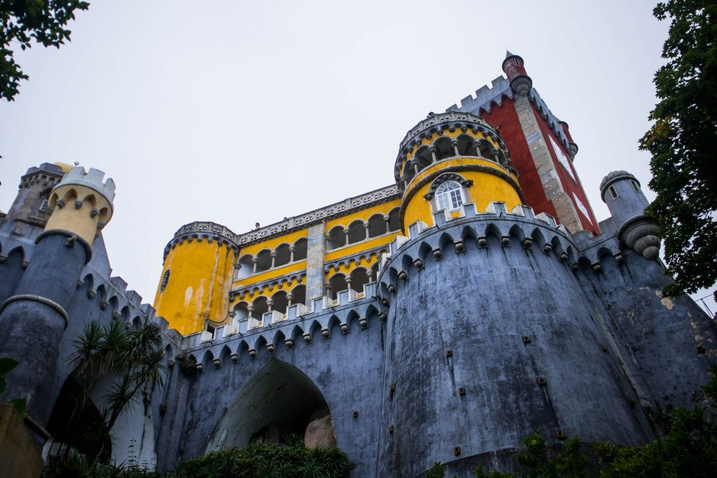 pena palace seen from below