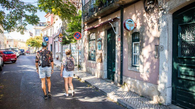 wolfgang i joanna spaceruja po lizbonie