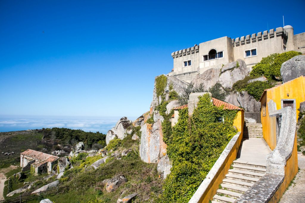 peninha monastery stands on a hill in sintra
