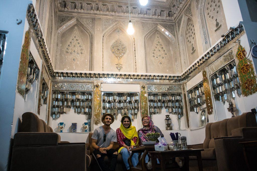 wnętrze irańkiego domu w yazd