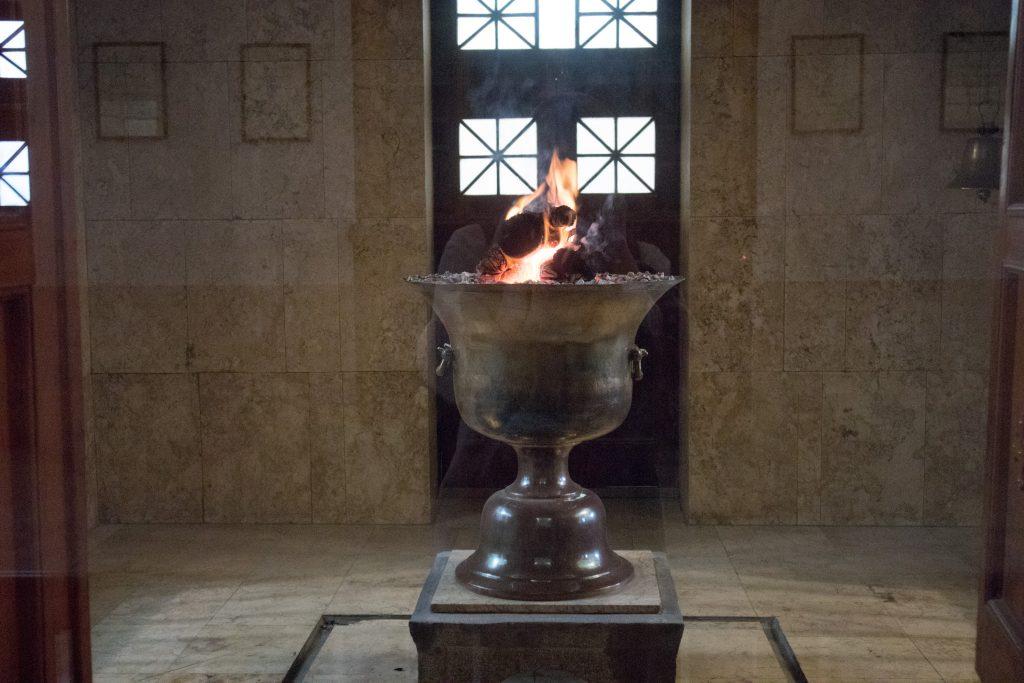 wieczny ogien w swiatynie zoroastrian w yazd