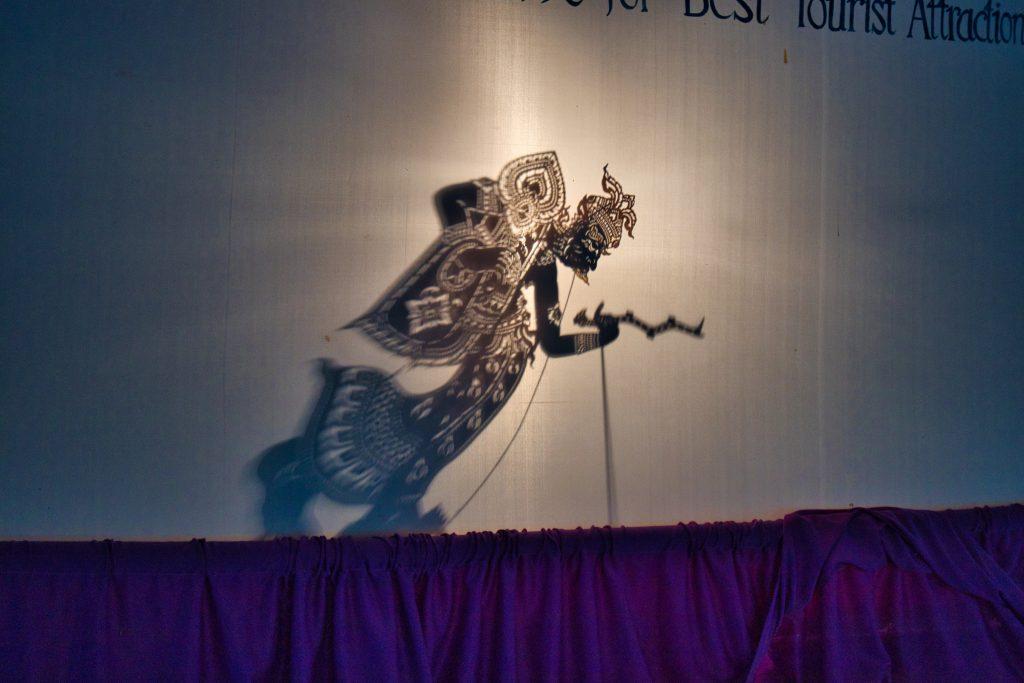 a shadow puppet