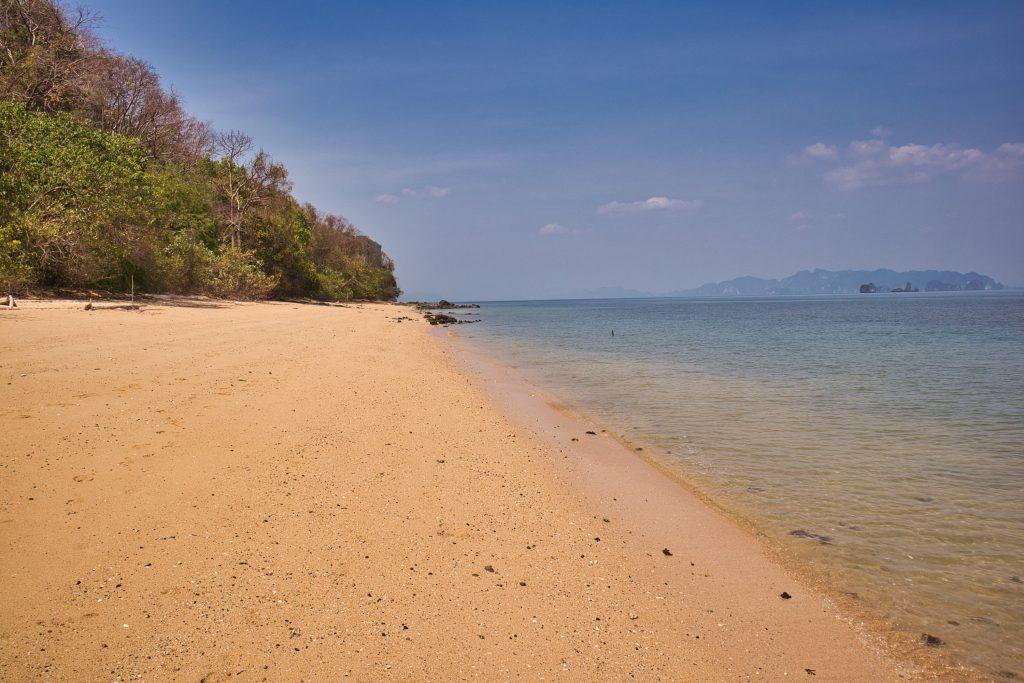 An empty beach in Koh Yao Noi.