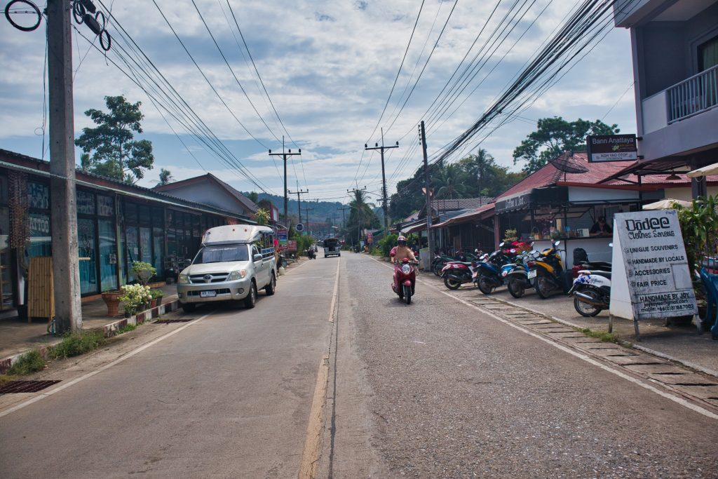 A small road in a town in koh yao noi.
