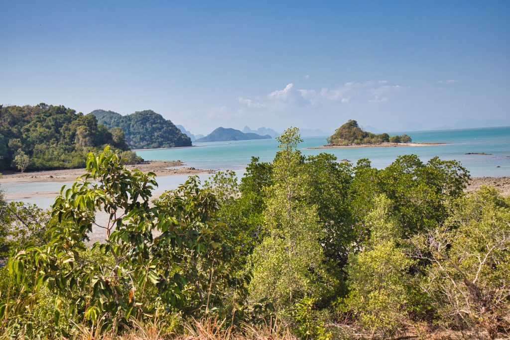Small islands seen from a view point on koh yao noi.