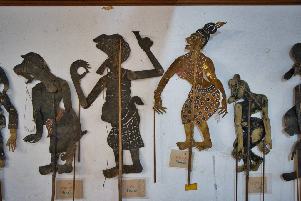 A set of puppets at the puppet theatre in Nakhon Si thammarat.