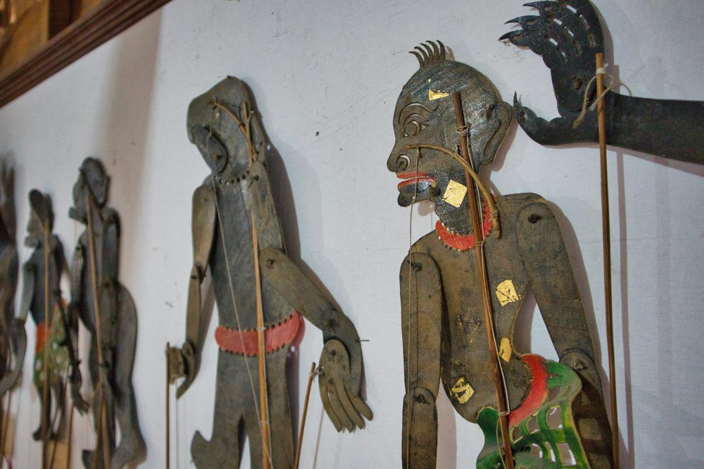 Puppet exhibit at Suchart Supsin in Nakhon Si Thammarat.