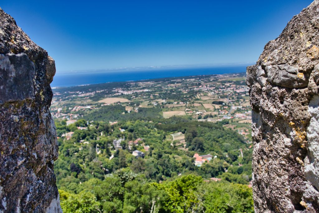 View from the Moors castle in sintra, Portugal.