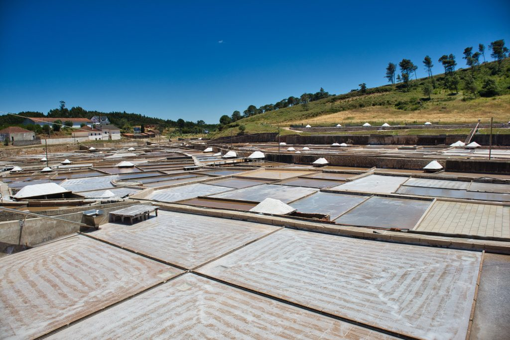 salt pans in portugal, near lisbon