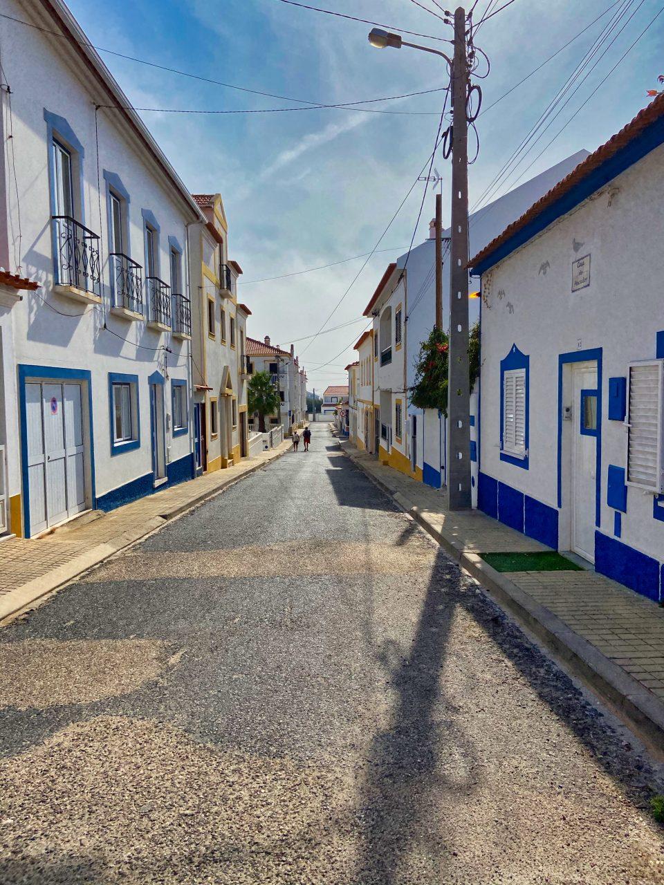 A street in Vila Nova de Milfontes.