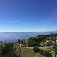 The garden terrace at the peak of Doi Inthanon
