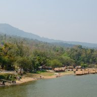 View of Huay Tung Tao Lake and the mountains